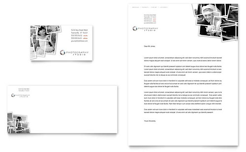Photographer Business Card & Letterhead Template - Microsoft Office