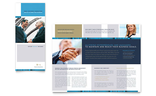 Small Business Consulting Tri Fold Brochure Template - Microsoft Office