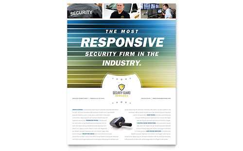 Security Guard Flyer - Microsoft Office Template