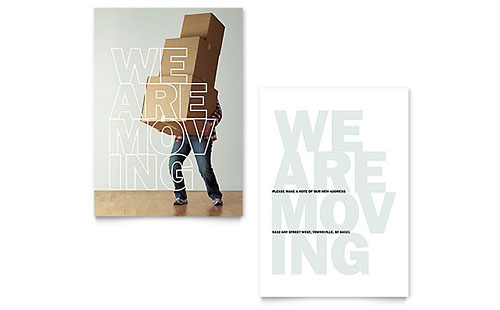 We're Moving - Sample Announcement Template - Word & Publisher