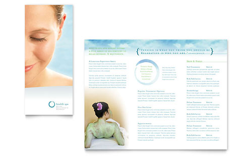 Day Spa & Resort Brochure - Microsoft Office Template