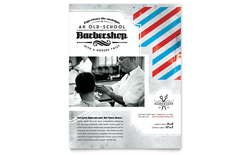Barbershop Flyer - Microsoft Office Template