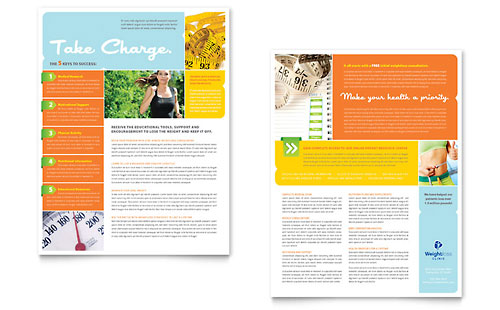 Weight Loss Clinic Datasheet Template - Microsoft Office