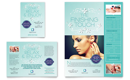 nail brochure templates free - nail technician postcard template word publisher