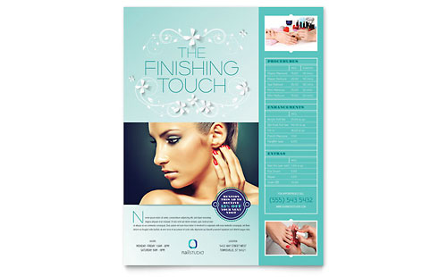Nail Technician Flyer - Microsoft Office Template
