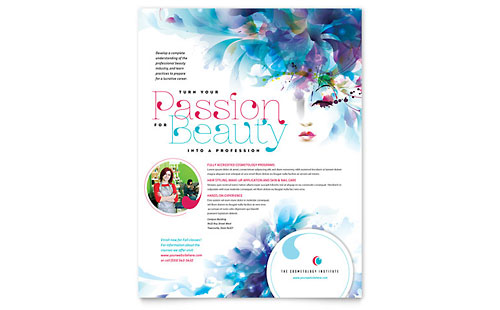 Cosmetology Flyer - Microsoft Office Template