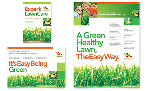 Lawn Maintenance Flyer & Ad Template - Microsoft Office