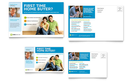 Home Inspection & Inspector Postcard - Microsoft Office Template