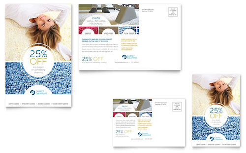 Carpet Cleaning Postcard - Microsoft Office Template