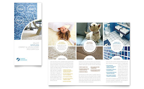 Carpet Cleaning Tri Fold Brochure - Microsoft Office Template