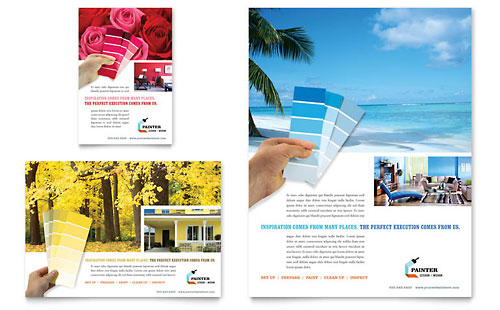 House Painting Contractor Flyer & Ad Template - Microsoft Office