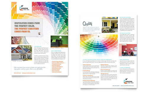 House Painting Contractor Datasheet Template - Microsoft Office