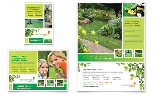 Lawn Mowing Service Flyer & Ad Template - Microsoft Office