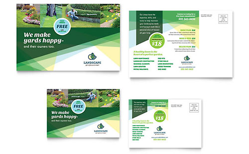 Landscaper Postcard - Microsoft Office Template