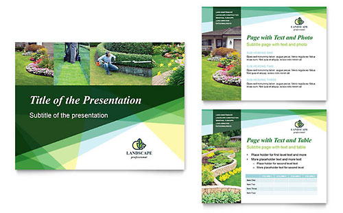 Landscaper PowerPoint Presentation Template - Microsoft Office