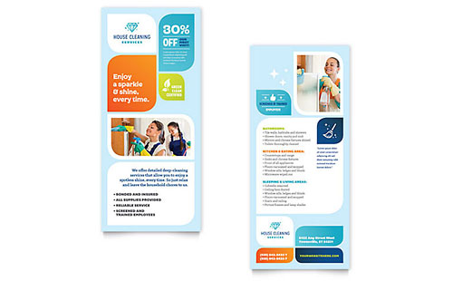 Cleaning Services Rack Card - Word Template & Publisher Template
