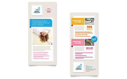 Carpet Cleaning Rack Card - Word Template & Publisher Template