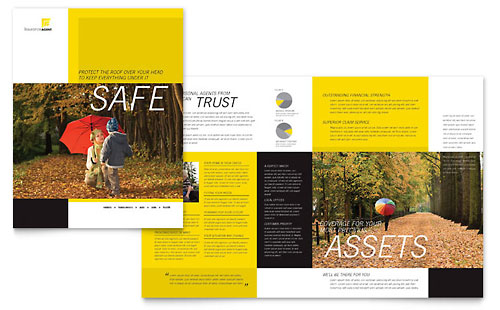 Insurance Agent Brochure Template - Microsoft Word & Publisher