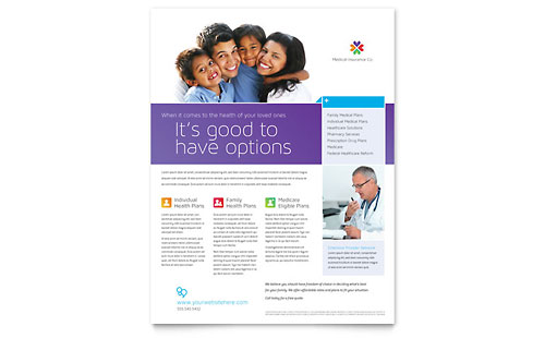Medical Insurance Flyer - Microsoft Office Template