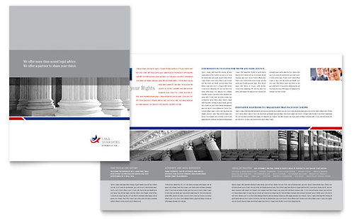 Legal & Government Services Brochure Template - Microsoft Office