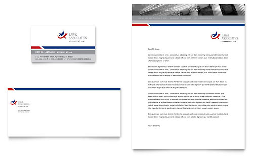 Legal & Government Services Business Card & Letterhead Template - Microsoft Office