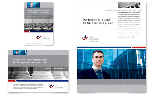 Legal & Government Services Flyer & Ad - Microsoft Office Template
