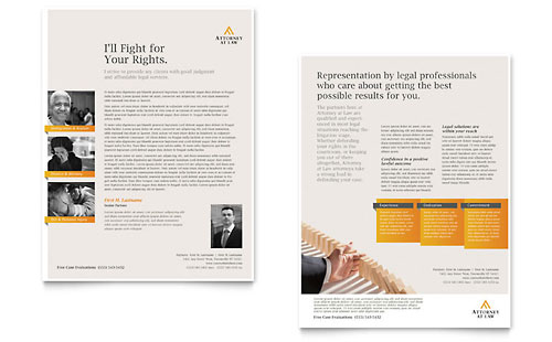 Legal Advocacy Datasheet - Microsoft Office Template
