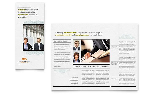 Attorney Tri Fold Brochure Template - Microsoft Office