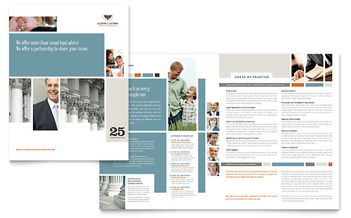 Family Law Attorneys Brochure Template - Microsoft Office