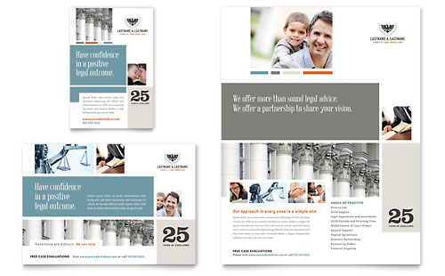 Family Law Attorneys Flyer & Ad - Microsoft Office Template