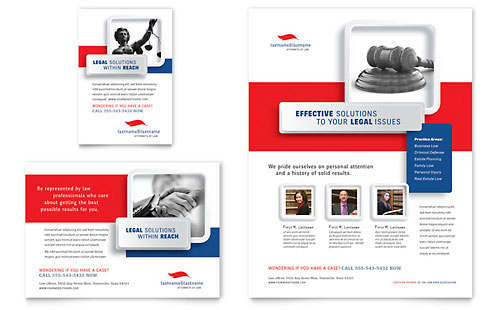Justice Legal Services Flyer & Ad - Microsoft Office Template