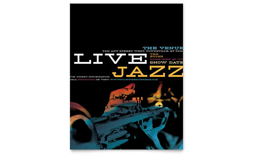 Jazz Music Event Flyer Template - Microsoft Office