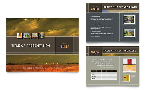 Art Gallery & Artist - Sample PowerPoint Presentation Template - Word & Publisher
