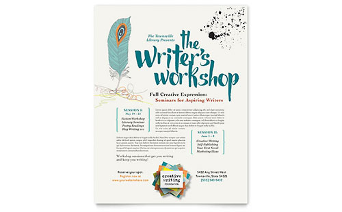 Writer's Workshop Flyer - Microsoft Office Template