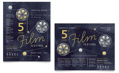 Film Festival Poster Template - Microsoft Office