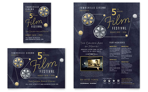 Film Festival Flyer & Ad Template - Microsoft Office