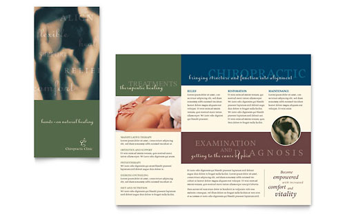 Chiropractor Brochure - Microsoft Office Template