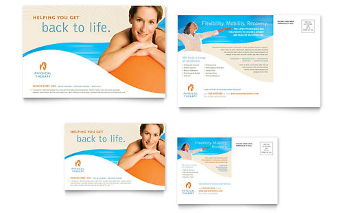 Physical Therapist Postcard - Microsoft Office Template