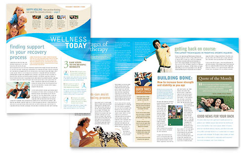 Physical Therapist Newsletter Template Design