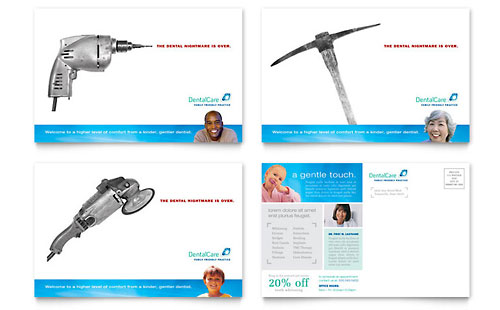 Dental Care Postcard - Microsoft Office Template