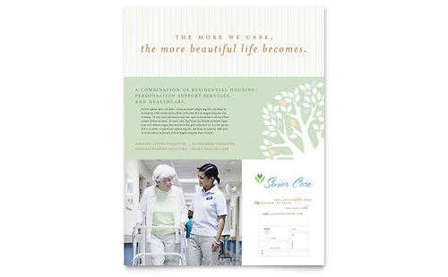 Elder Care & Nursing Home Flyer - Microsoft Office Template