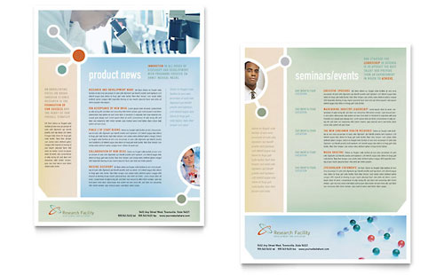 Medical Research Datasheet Template Design