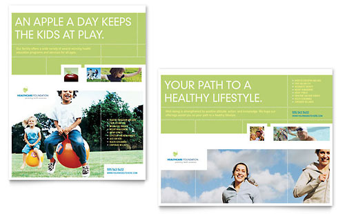Healthcare Management Poster Template Design