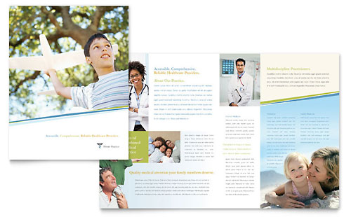 Family practice templates word publisher powerpoint for Medical office brochure templates