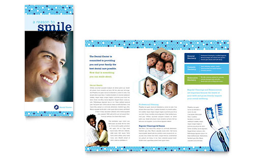 Dentistry & Dental Office Brochure - Microsoft Office Template