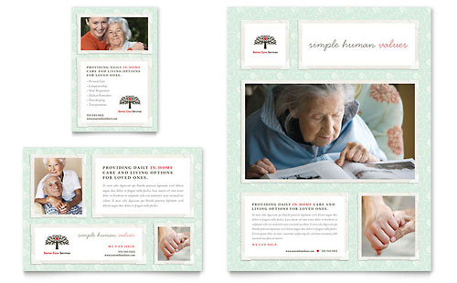 Senior Care Services Flyer & Ad - Microsoft Office Template