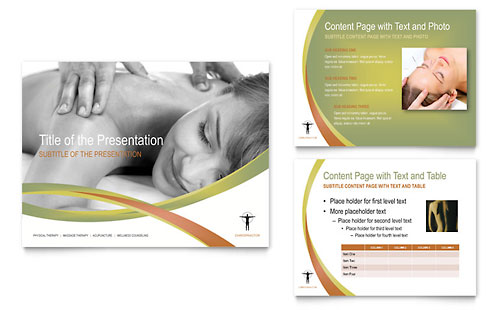 Massage & Chiropractic PowerPoint Presentation Template - Microsoft Office