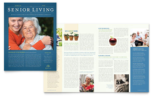 Senior Living Community Newsletter Template - Microsoft Office
