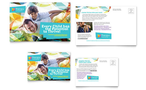 Adolescent Counseling Postcard - Microsoft Office Template