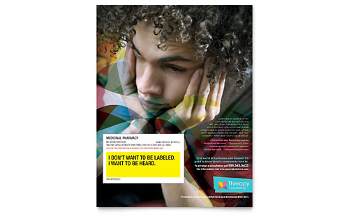 Adolescent Counseling Flyer - Microsoft Office Template
